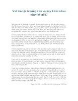 Vai trò tộc trưởng xưa và nay khác nhau như thế nào?
