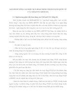 GIẢI PHÁP NÂNG CAO HIỆU QUẢ HOẠT ĐỘNG THANH TOÁN QUỐC TẾ CỦA NHNoPTNT ĐỐNG ĐA