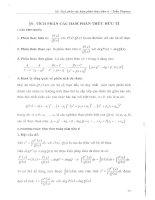 Tích phân các hàm phân thức hữu tỉ
