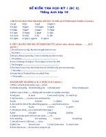 Đề thi HKI Anh 10 - đề 2