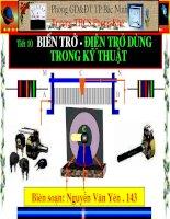 Tiết 10 - Bài 10 Biến trở - Điện trở dùng trong kỹ thuật