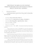 PHÂN TÍCH SỰ TÁC ĐỘNG CỦA CÁC GIẢI PHÁP MARKETING ĐẾN KHẢ NĂNG CẠNH TRANH CỦA CÔNG TY DỊCH VỤ THƯƠNG MẠI   TRASERCO