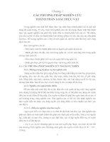 CÁC PHƯƠNG PHÁP NGHIÊN CỨU THÀNH PHẦN LOÀI THỰC VẬT