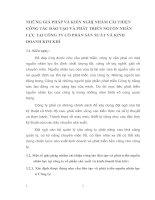 NHỮNG GIẢ PHÁP VÀ KIẾN NGHỊ NHẰM CẢI THIỆN CÔNG TÁC ĐÀO TẠO VÀ PHÁT TRIỂN NGUỒN NHÂN LỰC TẠI CÔNG TY CỔ PHẦN SẢN XUẤT VÀ KINH DOANH KIM KHÍ