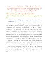 THỰC TRẠNG ĐỘI NGŨ GIÁO VIÊN VÀ TÌNH HÌNH ĐÀO TẠO VÀ PHÁT TRIỂN ĐỘI NGŨ GIÁO VIÊN Ở TRƯỜNG CAO ĐẲNG NGHỀ VIỆT ĐỨC VĨNH PHÚC