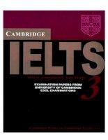 Cambridge practice tests for IELTS 3