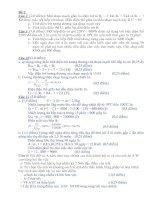 Bài tập định lượng - Vật lý