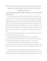 MỘT SỐ Ý KIẾN NHẬN XÉT  KIẾN NGHỊ VÀ NHỮNG GIẢI PHÁP NHẰM HOÀN THIỆN CÔNG TÁC KẾ TOÁN NVL  CCDC Ở XÍ NGHIỆP XÂY LẮP SỐ2