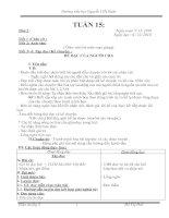 giáo án lớp 3 - Tuần 15-CKT-KNS