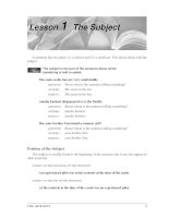 Grammar And Usage For Better Writing - The supbject