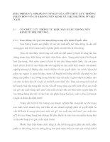 ĐĂC ĐIỂM VÀ NỘI DUNG CƠ BẢN CỦA TỔ CHỨC LƯU THÔNG PHÂN BÓN VÔ CƠ TRONG NỀN KINH TẾ THỊ TRƯỜNG Ở VIỆT NAM