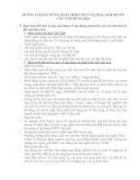 ĐƯỜNG LỐI XÂY DỰNG, PHÁT TRIỂN NỀN VĂN HOÁ, GIẢI QUYẾT CÁC VẤN ĐỀ XÃ HỘI