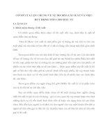 CƠ SỞ LÝ LUẬN CHUNG VỀ TỰ DO HÓA LÃI SUẤT VÀ VIỆC HUY ĐỘNG VỐN CHO ĐẦU TƯ