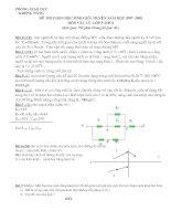 Đề thi hs giỏi lý 9 (vòng trường) có đáp án