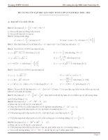 Đề cương ôn tập học kỳ 1 toán 12