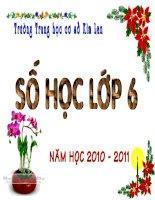Tiet 49 - Phep tru hai so nguyen - So hoc 6
