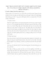 THỰC TRẠNG NGUỒN NHÂN LỰC VÀ PHÁT TRIỂN NGUỒN NHÂN LỰC CỦA CÔNG TY TNHH 1 THÀNH VIÊN SÔNG LAM TRONG NHỮNG NĂM QUA