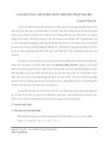 GIẢI BÀI TOÁN HÌNH HỌC BẰNG PHƯƠNG PHÁP TỌA ĐỘ