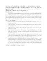 PHƯƠNG THỨC TÍN DỤNG CHỨNG TỪ VÀ RỦI RO TRONG THANH TOÁN BẰNG PHƯƠNG THỨC TÍN DỤNG CHỨNG TỪ TẠI NGÂN HÀNG THƯƠNG MẠI