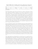 Nên và không nên trong giảng dạy toán( p11)