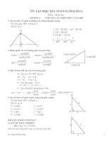 đề cương ôn tập hk1 hình học 9