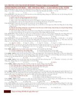 Tổng hợp đề ĐH_CĐ từ các năm(có đáp án)
