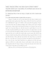 THỰC TRẠNG CÔNG TÁC ĐÀO TẠO VÀ PHÁT TRIỂN NGUỒN NHÂN LỰC TẠI CÔNG TY CỔ PHẦN SẢN XUẤT VÀ KINH DOANH KIM KHÍ