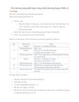 Giáo trình Tổn thương tạng phối hợp trong chấn thương bụng (Phần 1)