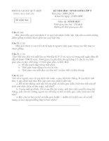 Bộ đề thi chon GV Dạy giỏi cấp huyện môn Sinh Cấp THCS