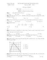 Đề thi HSG toán 5 lan 1