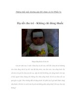 Những thắc mắc thường gặp khi chăm sóc bé (Phần 5)
