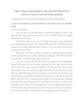 THỰC TRẠNG HOẠT ĐỘNG TIÊU THỤ SẢN PHẨM CỦA CÔNG TY NHỰA CAO CẤP HÀNG KHÔNG