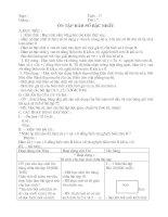 Tự chọn Toán 9 Kỳ II chuẩn