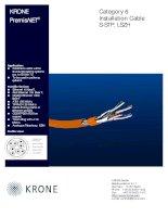KRONE - Datasheet - Cat 6 - Cable - S-STP LSZH