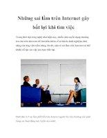 Những sai lầm trên Internet gây bất lợi khi tìm việc
