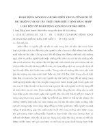HOẠT ĐỘNG KINH DOANH BẢO HIỂM TRONG NỀN KINH TẾ THỊ TRƯỜNG VÀ SỰ CẦN THIẾT PHẢI ĐIỀU CHỈNH BẰNG PHÁP LUẬT ĐỐI VỚI HOẠT ĐỘNG KINH DOANH BẢO HIỂM