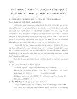 TìNH  HìNH Sử DụNG VốN LƯu ĐộNG Và HIệu QUả Sử DụNG VốN LƯu ĐộNG TạI CÔNG TY CPTM Gia Trang