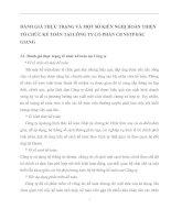 ĐÁNH GIÁ THỰC TRẠNG VÀ MỘT SỐ KIẾN NGHỊ HOÀN THIỆN TỔ CHỨC KẾ TOÁN TẠI CÔNG TY CỔ PHẦN CB NSTP BẮC GIANG
