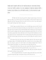 MỘT SỐ Ý KIẾN ĐỀ XUẤT NHẰM HOÀN THÀNH CÔNG TÁC KT TIỀN LƯƠNG VÀ CÁC KHOẢN TRÍCH THEO TIỀN LƯƠNG TẠI CÔNG TY CỔ PHẦN ĐẦU TƯ XÂY DỰNG NAM HẢI