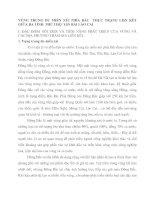 VÙNG TRUNG DU MIỀN NÚI PHÍA BẮC  THỰC TRẠNG LIấN KẾT GIỮA BA TỈNH  PHÚ THỌ  YấN BÁI LÀO CAI