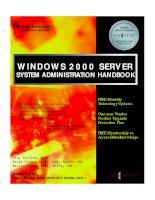 Windows 2000 Server System Administration Handbook P1