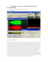 Hướng dẫn phần mềm GoldWare cắt và xử lý nhạc