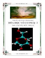 Hệ thống lý thuyết và bài tập về Hóa Học vô cơ