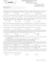 Đề luyện thi đại học  môn vật lý học kì 1