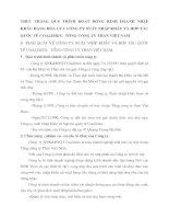 THỰC TRẠNG QUY TRÌNH HOẠT ĐỘNG KINH DOANH NHẬP KHẨU HÀNG HÓA CỦA CÔNG TY XUẤT NHẬP KHẨU VÀ HỢP TÁC QUỐC TẾ COALIMEX - TỔNG CÔNG TY THAN VIỆT NAM