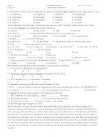 Bài kiểm tra số 2 HKI - lớp 12