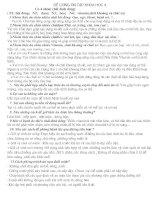 ĐỀ CƯƠNG KHOA HỌC KÌ 1LỚP 4