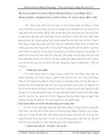 ĐỀ XUẤT MỘT SỐ GIẢI PHÁP NHẰM NÂNG CAO HIỆU QUẢ HOẠT ĐỘNG  MARKETING CHO CÔNG TY XĂNG DẦU BẾN TRE