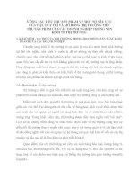 CÔNG TÁC TIÊU THỤ SẢN PHẨM VÀ MỘT SỐ YÊU CẦU CỦA VIỆC DUY TRÌ VÀ MỞ RỘNG THỊ TRƯỜNG TIÊU THỤ SẢN PHẨM CỦA CÁC DOANH NGHIỆP TRONG NỀN KINH TẾ THỊ TRƯỜNG
