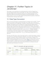 Further Topics in JavaScript